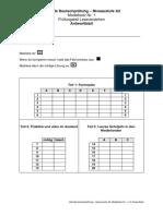 A2 Modellsatz Nr. 1, LV Antwortblatt