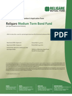Religare Medium Term Bond Fund NFO Application Form