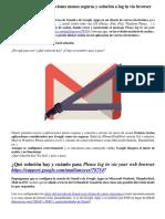 Aplicaciones Menos Seguras de Gmail - Cuando Outlook no reconoce Gmail