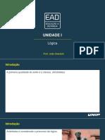 Slides de Aula - Unidade I - Lógica.pdf