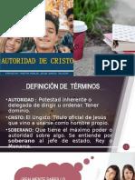 AUTORIDAD DE CRISTO EMA