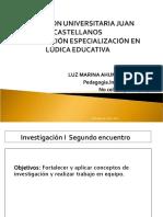 INVESTIGACIÓN I SEGUNDO ENCUENTRO