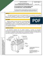 instructivo-transformador-4I40T002-Puesta en Servicio