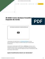 Imposto de Renda 2020_ Como declarar Investimentos _ InfoMoney