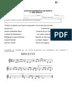 Diagnostica 6° Basico musica