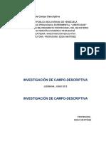 Investigación de Campo Descriptiva