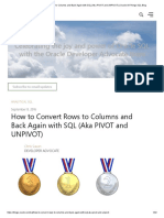 How to Convert Rows to Columns and Back Again with SQL (Aka PIVOT and UNPIVOT) _ Oracle All Things SQL Blog