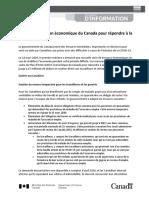 BG FR Economic Response Plan COVID 19
