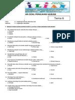 Soal Tematik Kelas 1 SD Tema 6 Subtema 3 Lingkungan Sekolahku dan Kunci Jawaban - www.bimbelbrilian.com.pdf