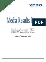 Media Results Report - Interbank FX