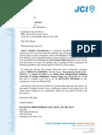JCI Letter of Invite for Sir Galicha