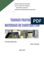 Travaux Pratiques Materiaux de Construction