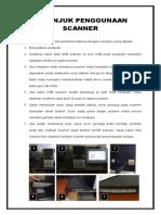 Petunjuk Penggunaan Scanner