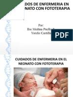 CUIDADOS DE ENFERMERIA EN EL NEONATO CON FOTOTERAPIA