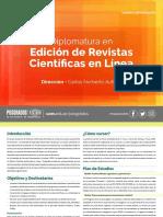 Diplomatura en Edición de Revistas Científicas en Línea 2020