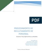 PROCEDIMIENTO DE RECLUTAMIENTO DE PERSONAL