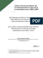 4. Se cumple la teoría neoclásica del comercio internacional, el caso de la economía colombiana entre 1980 y 2007.pdf