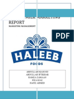 HALEEB MILK MARKETING REPORT