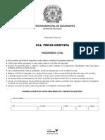 7_Prova Objetiva - engenheiro civil - Pref Guararapes