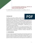Derechos de Los Adolescentes Privados de Libertad en Chile