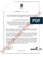 Borrador Para Comentarios Decreto Simulacro Bogotá 2020