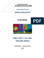 Plan Anual Arte y Cultura 2020 m.a. 3º