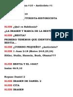 Notas PP Anticristo #1