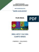 Plan Anual Arte y Cultura 2020 m.a. 4º