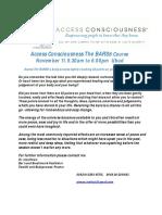 Access Consciousness The BARS.Nov11th