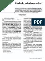 Daniellou, Laville e Teiger 1989 - Ficcao e realidade do trabalho operario.pdf