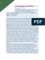 ANÁLISIS DE SISTEMAS VIVIENTES