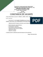 CONSTANCIA DE VACANTE