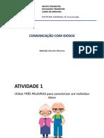 AULA - COMUNICAÇÃO COM IDOSOS