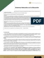 Aplicación de los Sistemas Naturales en la Educación