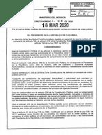 Gobierno emite decreto sobre medidas de Gobernadores y Alcaldes