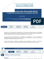 Plan de Continuité d'Activité (PCA) (1)