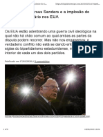 Texto Slavoj Zizek - Eleições EUA