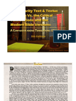 The Majority Text & Textus Receptus Vs. the Critical Text Editions and the Modern Bible Versions, ESV Version, Fifth Edition, Revised -- FREE