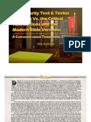 The Majority Text & Textus Receptus Vs  the Critical Text