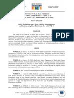Updated NM DOH Public Health Order
