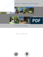 Boletín Informativo del Parque Nacional Campo de Los Alisos.Tucúman.Argentina