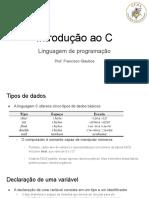2 - introdução ao C e comandos de decisão
