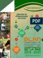 Plan territorial de desarrollo integral La Paz 2016 - 2020