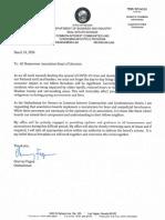 HOA Foreclosure Moratorium Request