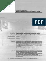 A la Sombra del Dolmen - Acerca de la Arquitectura de Paulo Mendes Da Rocha