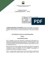 MINUTA PROJETO LEI LOTEAMENTO FECHADO PL PDM