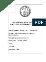11058 DIDÁCTICA GRAL PARA LOS PROFESORADOS Prof_ Alliaud 2020.doc