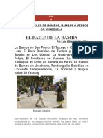 Sobre las bambas o bombas genero musical venezolano