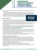 YaleADM CoronavirusGuidance Clinicians and OTPs 031620