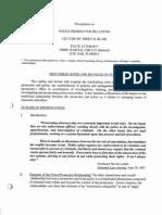 Police-Prosecutor Relations